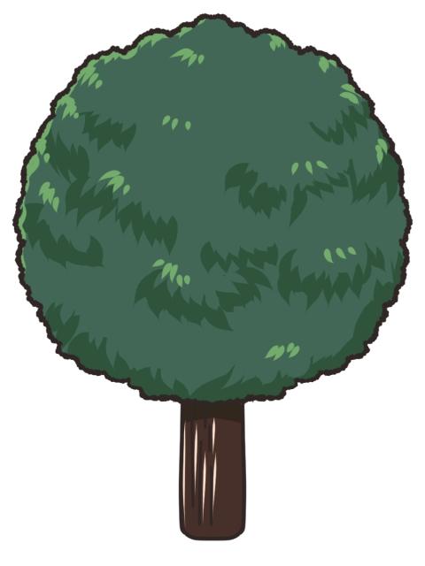 丸い街路樹のイラスト 無料イラストのimt 商用ok加工ok