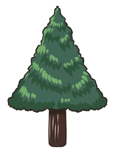 三角の街路樹のイラスト 無料イラストのimt 商用ok加工ok