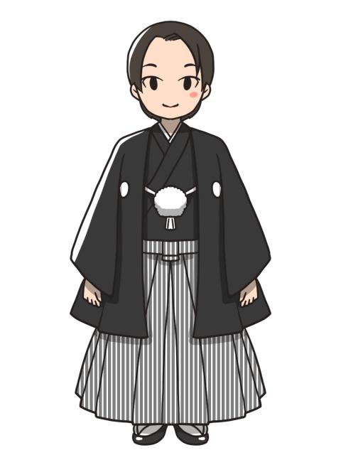 新郎紋付き袴のイラスト 無料イラストのimt 商用ok加工ok