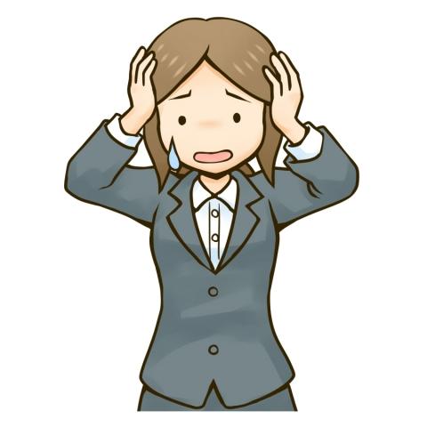 頭を抱える女性会社員のイラスト - 無料イラストのIMT 商用OK ...