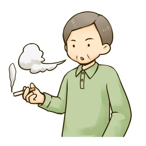 喫煙する中年男性のイラスト 無料イラストのimt 商用ok加工ok