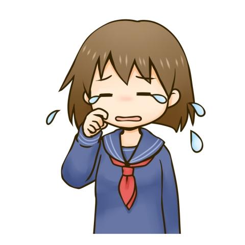 泣く女子中学生のイラスト 無料イラストのimt 商用ok加工ok