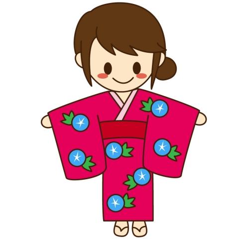 浴衣の女の子のイラスト 無料イラストのimt 商用ok加工ok