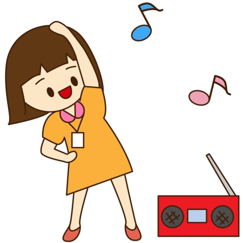 ラジオ体操をしている子どものイラスト 無料イラストのimt 商用ok加工ok