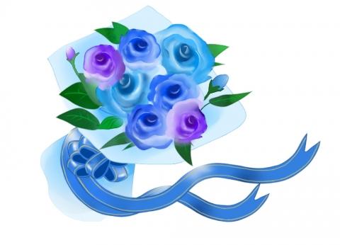 薔薇の花束にリボンがついたイラスト 無料イラストのimt 商用ok加工ok