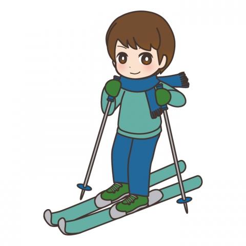 スキーをしている男の子のイラスト 無料イラストのimt 商用ok加工ok