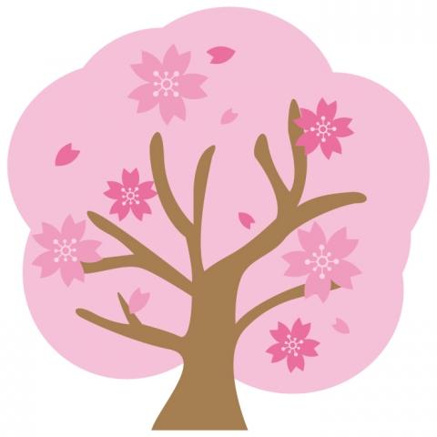 満開の桜の木のイラスト 無料イラストのimt 商用ok加工ok