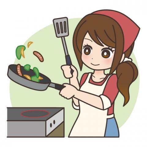 料理中の女性のイラスト 無料イラストのimt 商用ok加工ok
