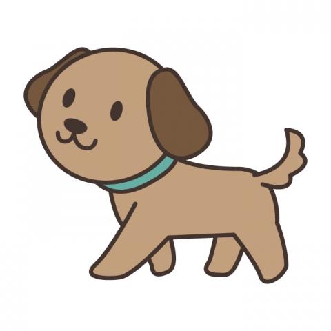 歩いている犬のイラスト 無料イラストのimt 商用ok加工ok