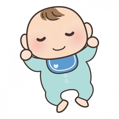 眠っている赤ちゃんのイラスト 無料イラストのimt 商用ok加工ok