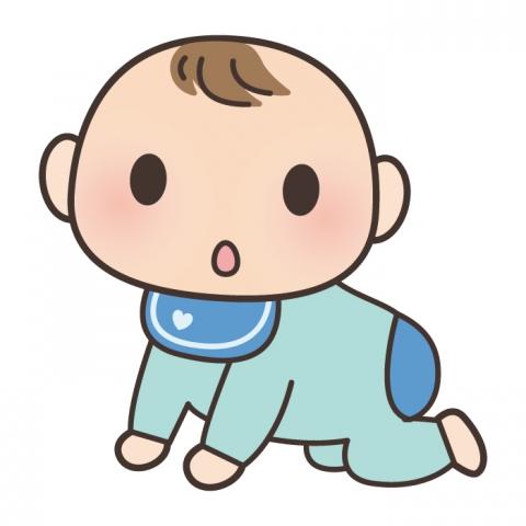 はいはいをしている赤ちゃんの姿イラスト 無料イラストのimt 商用ok