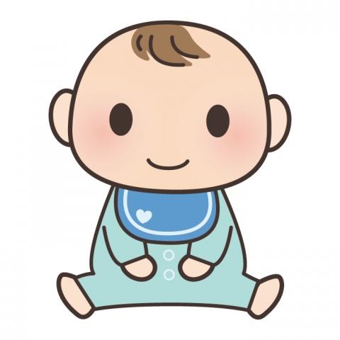 座っている赤ちゃんのイラスト 無料イラストのimt 商用ok加工ok