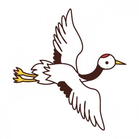 鶴の飛んでるイラスト 無料イラストのimt 商用ok加工ok