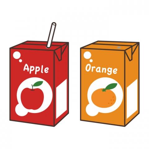 紙パックジュースアップルオレンジのイラスト 無料イラストのimt