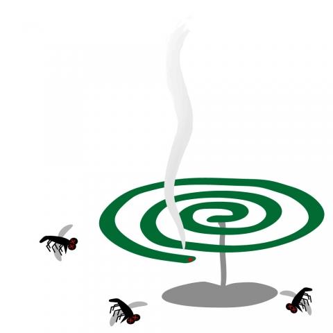 蚊取り線香と蚊のイラスト 無料イラストのimt 商用ok加工ok