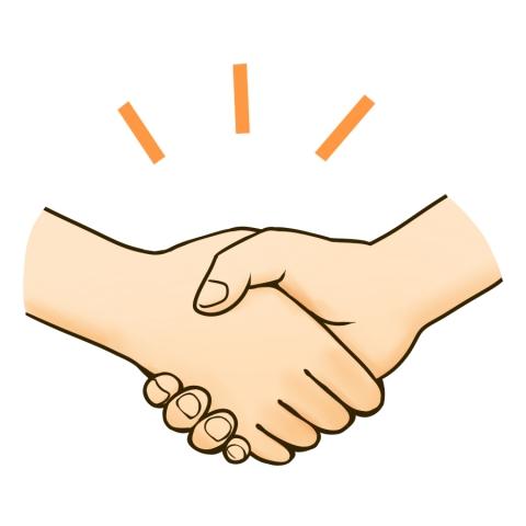 「握手 イラスト」の画像検索結果