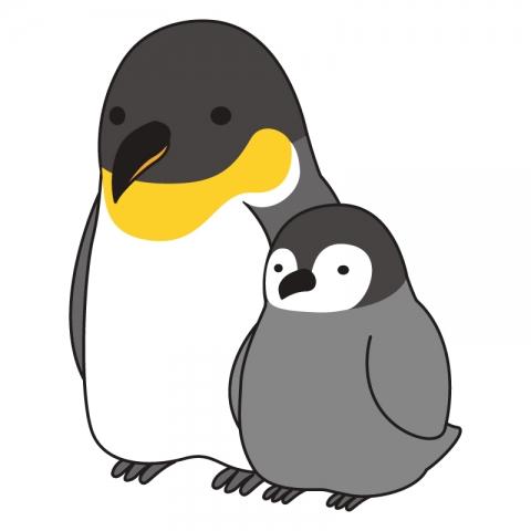 ペンギンの親子のイラスト 無料イラストのimt 商用ok加工ok