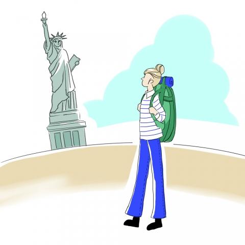 アメリカ旅行のイラスト 無料イラストのimt 商用ok加工ok