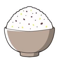 雑穀ご飯のイラスト