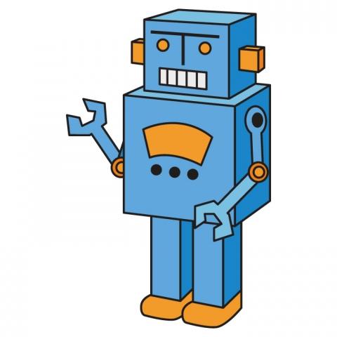 ガラクタっぽいロボットのおもちゃのイラスト 無料イラストのimt 商用