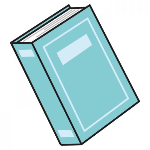 水色の本のイラスト 無料イラストのimt 商用ok加工ok