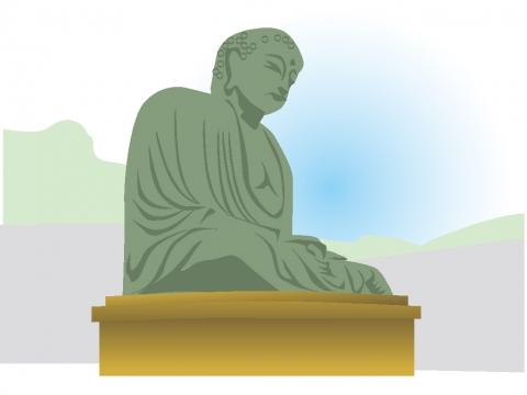 神奈川県 鎌倉大仏のイラスト 無料イラストのimt 商用ok加工ok