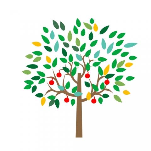 実のなる木のイラスト 無料イラストのimt 商用ok加工ok