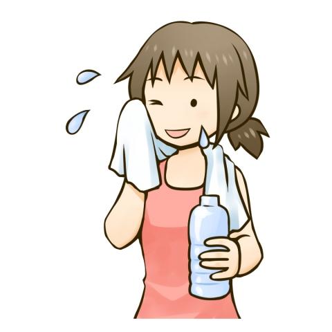 汗を拭く女性のイラスト - 無料 ... : 国旗一覧 ダウンロード : すべての講義