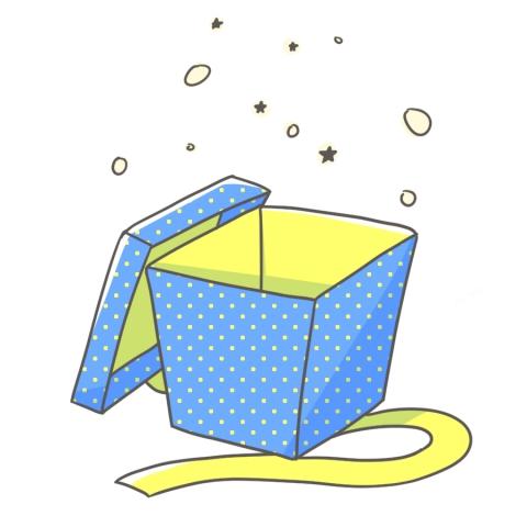 蓋の空いたプレゼントボックスのイラスト 無料イラストのimt 商用ok