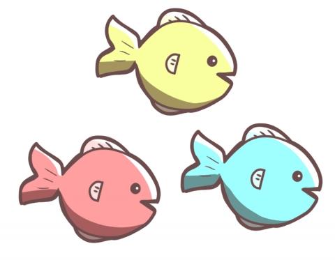 可愛いお魚のイラスト 無料イラストのimt 商用ok加工ok