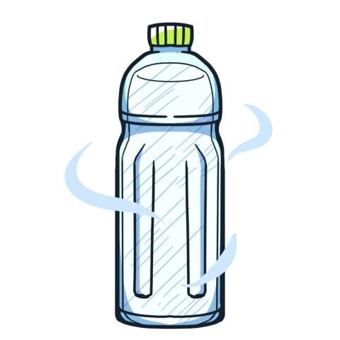 凍ったペットボトルのイラスト ...