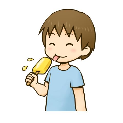 アイスキャンディーを食べる男の子のイラスト 無料イラストのimt 商用
