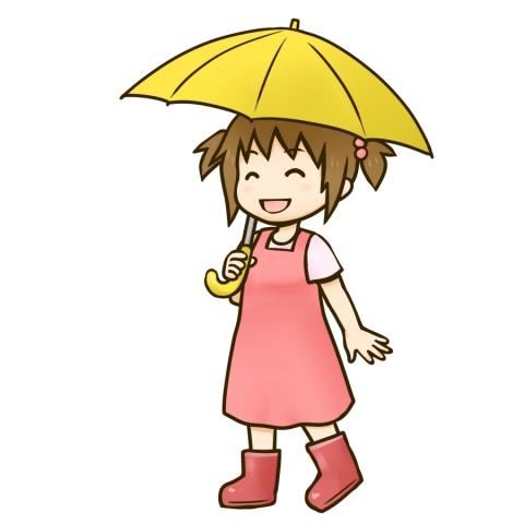 傘をさす女の子のイラスト 無料イラストのimt 商用ok加工ok