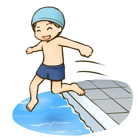 プールに飛び込む男の子のイラスト 無料イラストのimt 商用ok加工ok