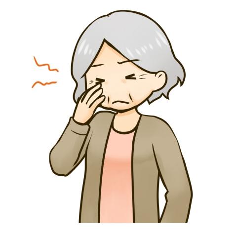 目が疲れたおばあさんのイラスト 無料イラストのimt 商用ok加工ok