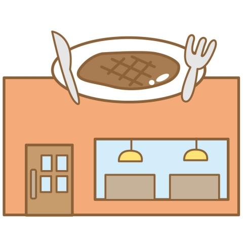 レストランの外観のイラスト 無料イラストのimt 商用ok加工ok