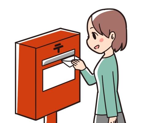 手紙を出す女性のイラスト - 無料イラストのIMT 商用OK、加工OK