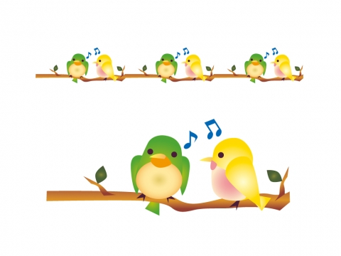 鳥のライン線のイラスト 無料イラストのimt 商用ok加工ok
