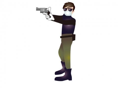 銃を構えるイラスト 無料イラストのimt 商用ok 加工ok