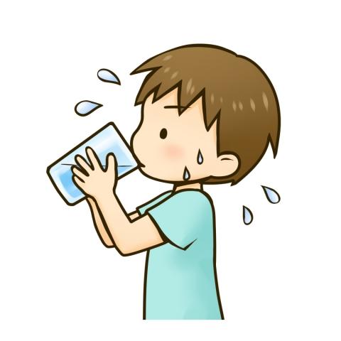 水分補給のためコップの水を飲む男の子のイラスト 無料イラストのimt