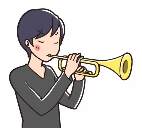 トランペットを演奏する男性のイラスト 無料イラストのimt 商用ok加工ok