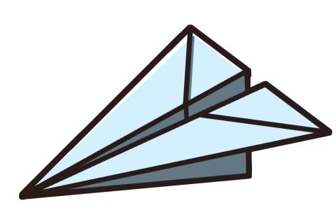 紙飛行機のイラスト 無料イラストのimt 商用ok加工ok