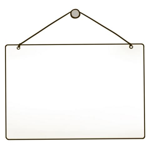 白い掛け看板のイラスト