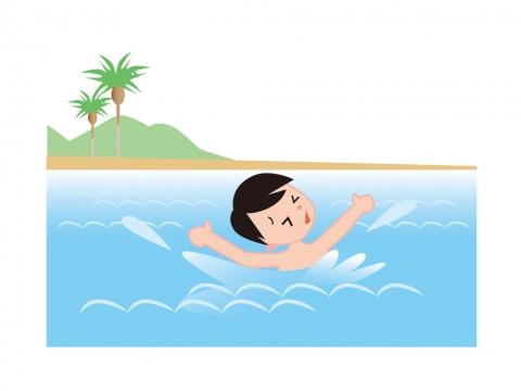 海で溺れている子どものイラスト 無料イラストのimt 商用ok加工ok