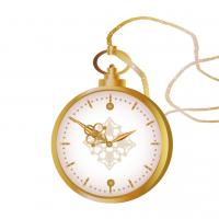アンティークな懐中時計のイラスト
