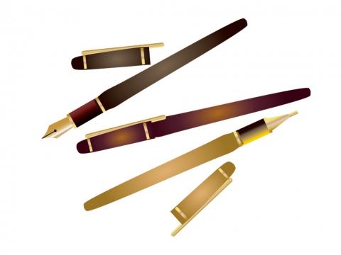 アンティークなペン万年筆のイラスト 無料イラストのimt 商用ok加工ok